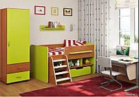 Детская кровать чердак со шкафом ДМО 30, фото 1