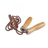 Скакалка кожаная LiveUp Jump Rope Leather (скоростная), фото 1