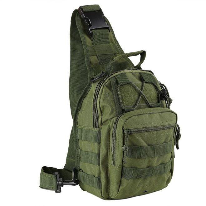 Рюкзак тактичний однолямочный 6 літрів зелений