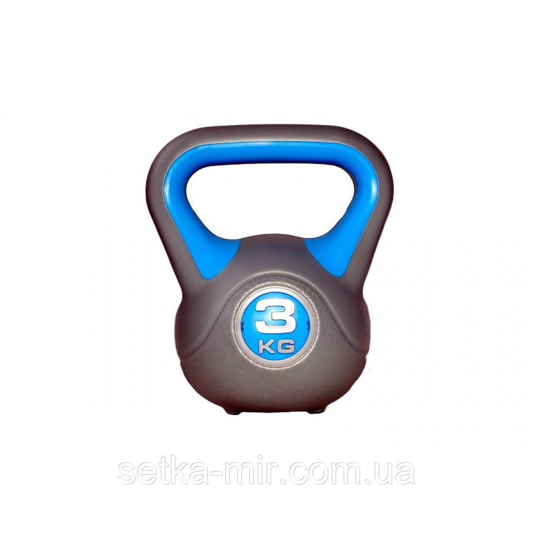 Гиря пластиковая насыпная LiveUp Plastic Kettel Bell, 3 кг