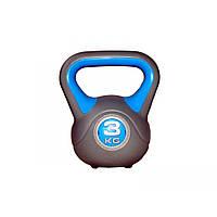 Гиря пластиковая насыпная LiveUp Plastic Kettel Bell, 3 кг, фото 1