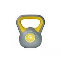 Гиря пластиковая насыпная LiveUp Plastic Kettel Bell, 4 кг