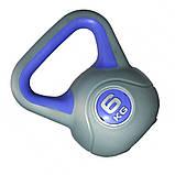 Гиря пластиковая насыпная LiveUp Plastic Kettel Bell, 6 кг, фото 2