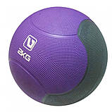 Медбол твердий LiveUp MEDICINE BALL, 2 кг, фото 2