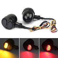 Светодиодные повороты мото \ Указатели поворота + стоп  12В LED 2 Вт, Custom