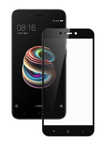 Захисне скло NZY для Xiaomi Redmi 5A Full Glue Чорні рамки (999840), фото 2