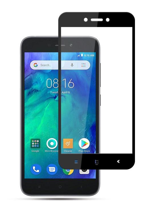 Защитное стекло NZY для Xiaomi Redmi Go Full Glue Черные рамки (999864)