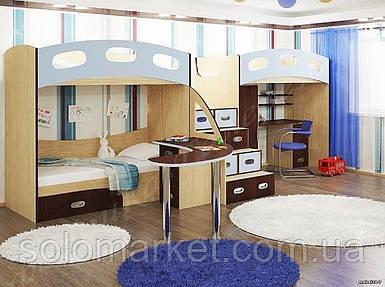 Дитяча двох'ярусна ліжко горище ДМ 188