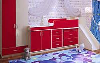 Детская кровать-чердак со шкафом Дет28, фото 1