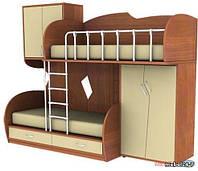 Детская двухъярусная кровать чердак дюл27