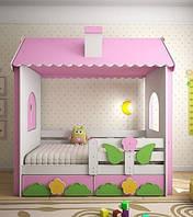 Детская кровать Домик с крышей ДМО 202, фото 1