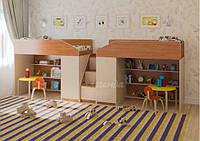 Дитяче ліжко для двох дітей ДМ 300, фото 1