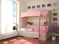 """Детская двухъярусная кровать чердак дм145 """"Сказка"""", фото 1"""