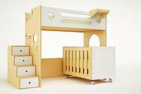 Дитяче ліжко для двох дітей: новонародженого і старші ДМ 707, фото 1