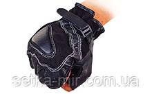 Рукавички спортивні багатоцільові BC-161 (шкіра), L