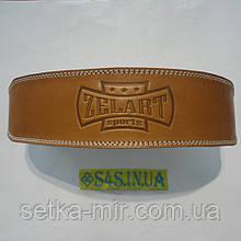 Пояс атлетический кожаный ZEL ZB-01016-4 (ширина - 10см, р-р XL-XXL - 105-120 см, с подкладкой для спины) XL