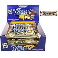 Протеиновый батончик WEIDER Yippie! 70 g Peanut-Caramel 12 шт, фото 1