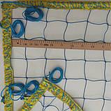 Сітка для пляжного волейболу з паракордом «БРЕНД ПЛЯЖНИЙ» синьо-жовта, фото 4