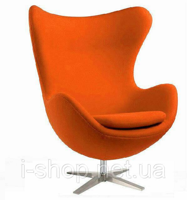 Крісло Егг (Egg) тканина, регулюється, колір помаранчевий