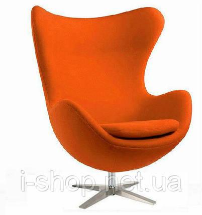 Крісло Егг (Egg) тканина, регулюється, колір помаранчевий, фото 2