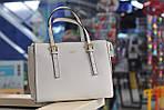 Женская кожаная сумка белая 8817