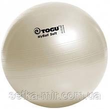 Мяч для фитнеса (фитбол) TOGU Майбол Софт 55см (до 500кг) Белый перламутр