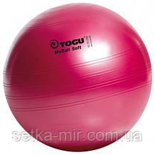М'яч для фітнесу (фітбол) TOGU Майбол Софт 45см (до 500кг) Червоний перламутр