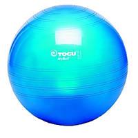 Мяч для фитнеса (фитбол) TOGU Майбол 65см (до 500кг) Прозрачно-синий