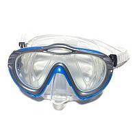 Маска для плавания Loyol М-2626S-5 серебристо-голубая