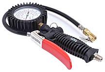 Пистолет подкачки с манометром (TIR 12bar, 360˚) Profi SATRA S-TG18