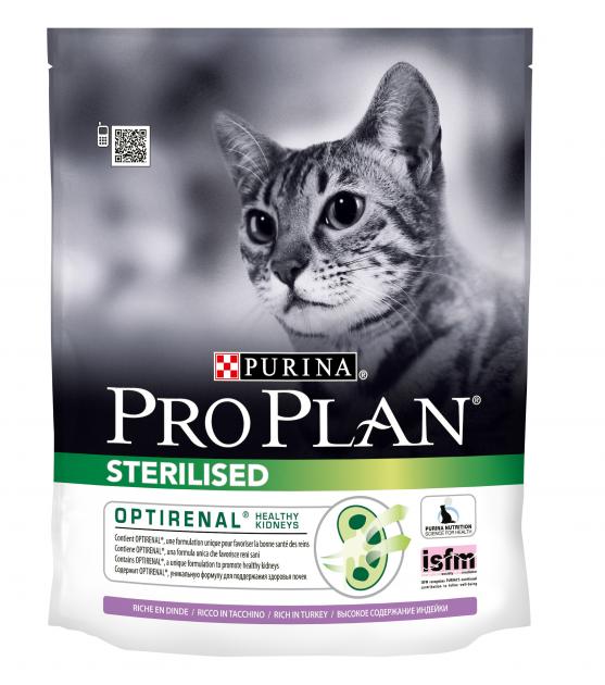 Pro Plan Sterilised Turkey - корм Пурина Про План с индейкой для стерилизованных кошек, 0.4 кг