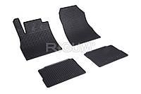 Коврики в салон Nissan Micra 17- Резиновые RIGUM Комплект из 4-х ковриков Черный
