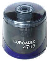 Точилка автоматическая, Buromax , пласт., синяя, на батарейках