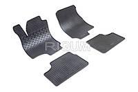 Коврики в салон Opel Astra G  98- 04- Резиновые RIGUM Комплект из 4-х ковриков Черный