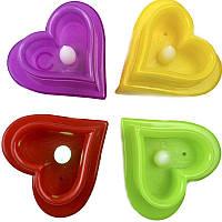 Сувенир Сердце, светится, пластик, в ассортименте, 7х7хх4,5см