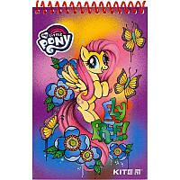 Блокнот дет. А6, Little Pony, карт. мягк., 48 л., чист.л., спир. верхн.