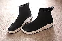 Женские кроссовки в стиле Balenciaga Italy Black черные  2019   36-41