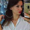 Огромные серьги кольца диам. 100 мм серебро с позолотой - Серьги конго позолоченные диам. 10 см, фото 3