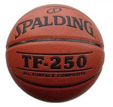 Мяч баскетбольный Spalding TF-250 Indoor/Outdoor Коричневый Размер 7 (3001504011217)