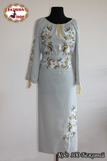 Свадебные платья вышитые купить