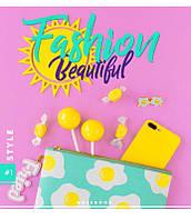 Тетрадь школьная, ламинация+софт-тач, 48 л., клетка, YES Fashion Beauty