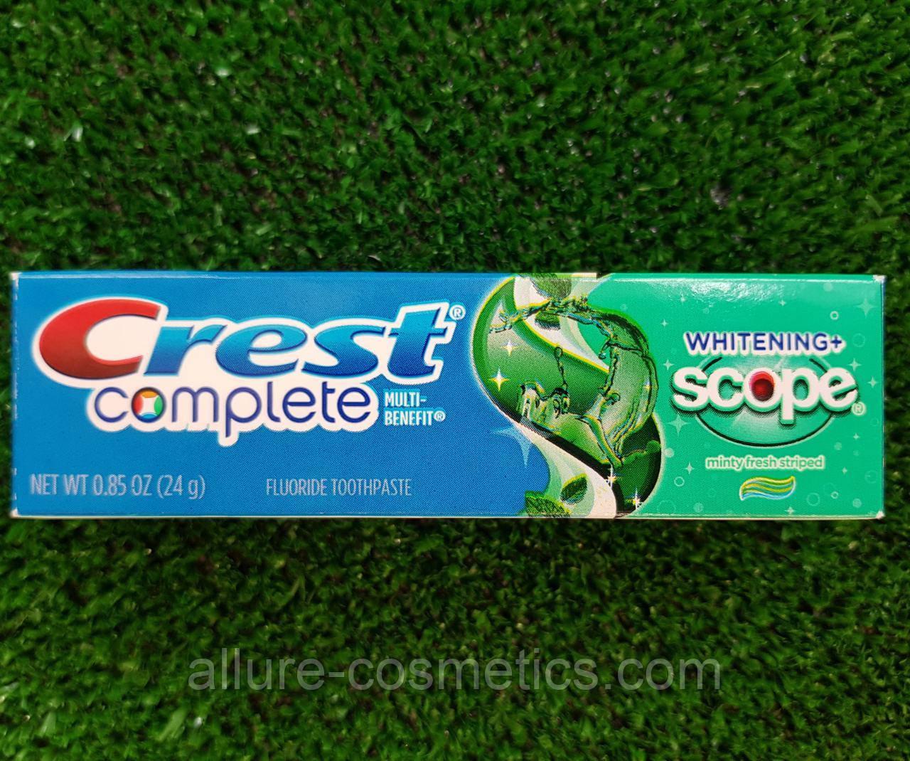 Зубная паста Crest Scope Whitening дорожная