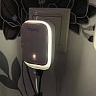 Сетевое зарядное устройство Topk на 3*USB с подсветкой. Зарядка Topk C3305 для гаджетов на 3 USB порта, фото 9