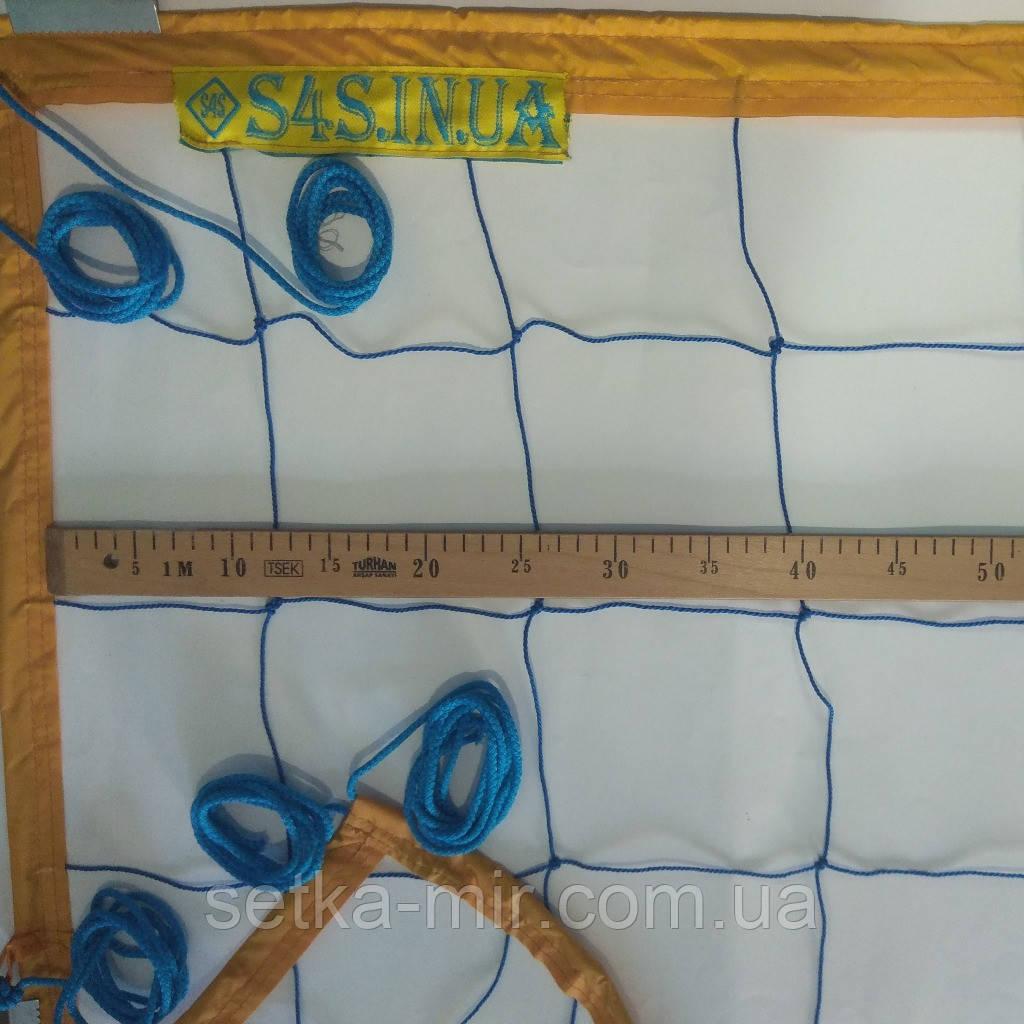 Сетка для классического волейбола «ЭКОНОМ 15 НОРМА» сине-желтая