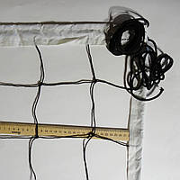 Волейбольная сетка «ЭКОНОМ 12 НОРМА» черно-белая