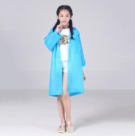 Плащ  дождевик для детей и подростков. Рост 120- 140 см. Синий.