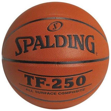 Мяч баскетбольный Spalding TF-250 Indoor/Outdoor Коричневый Размер 5 (3001504010017), фото 2