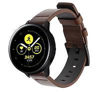 Кожаный ремешок Primo Classic для часов Samsung Galaxy Watch Active (SM-R500)/Active 2 (SM-R820/R830) - Coffee