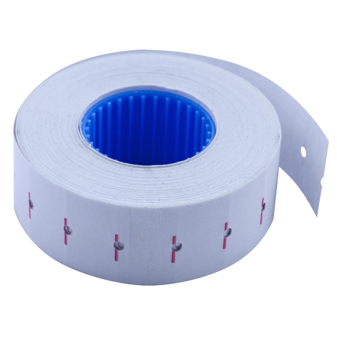 Ценник прямоугольный 22*12 мм белый внутренняя намотка, 1000 шт/12 метров, Buromax, 28110112