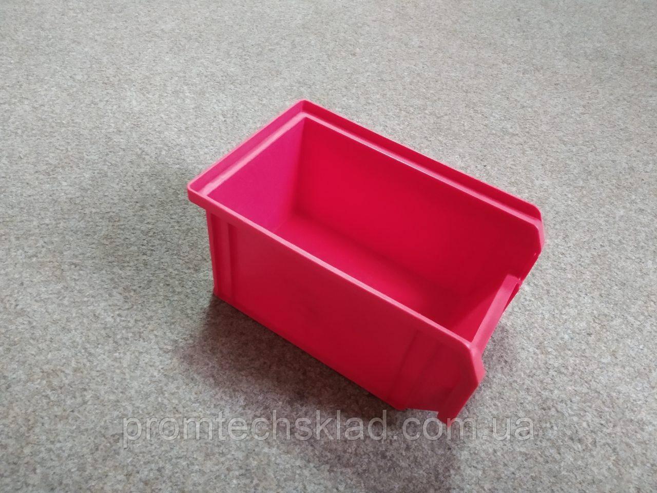 Ящик складской 701 для хранения метизов красный